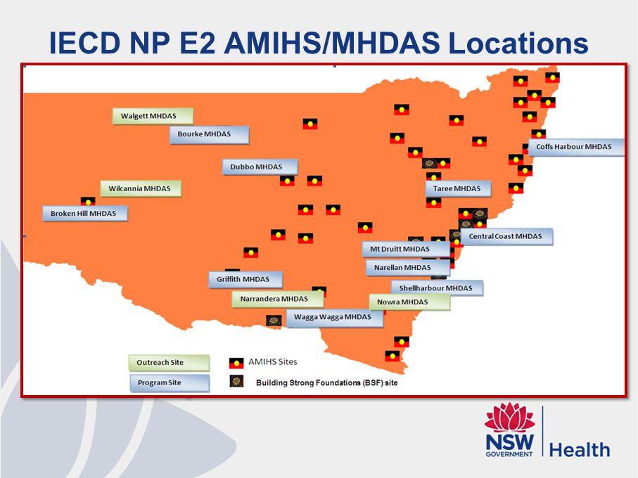 IECD NP E2 AMIHS/MHDAS Locations