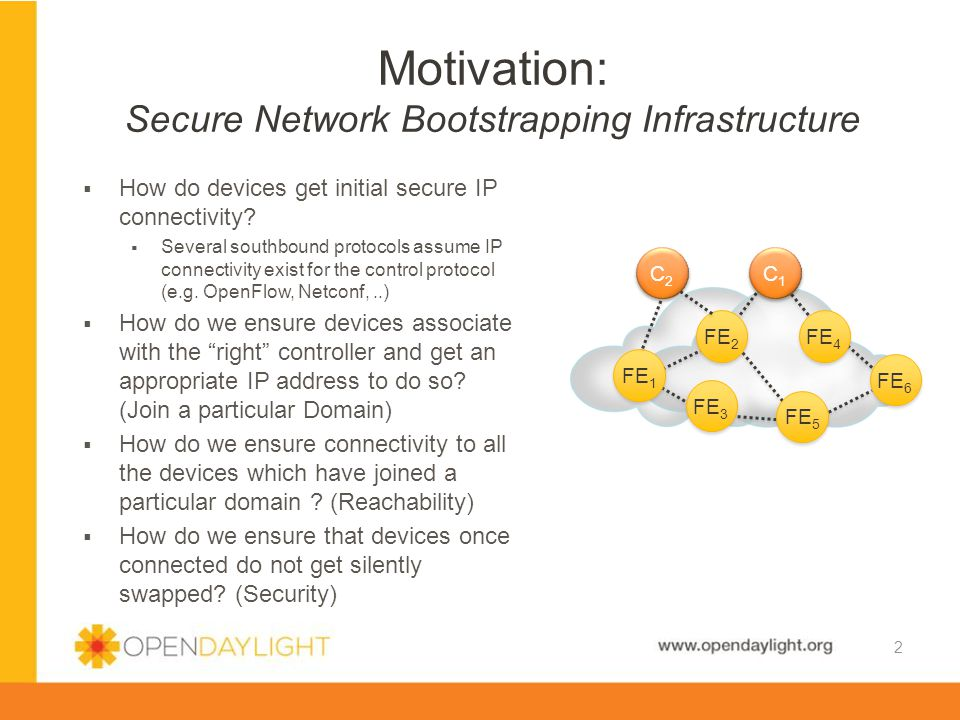 www.opendaylight.org  How do devices get initial secure IP connectivity.