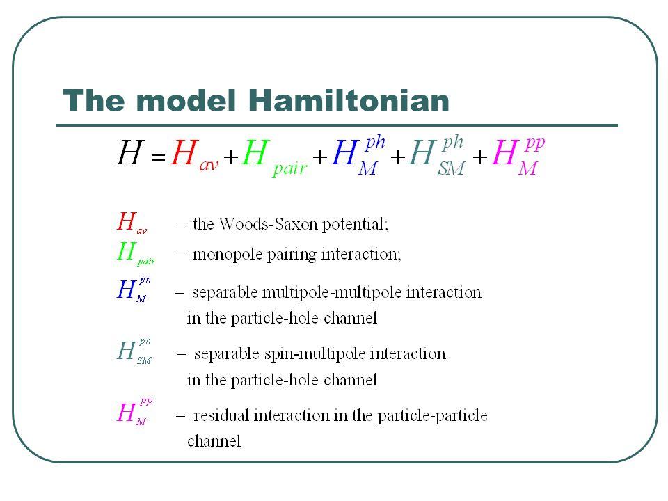 The model Hamiltonian