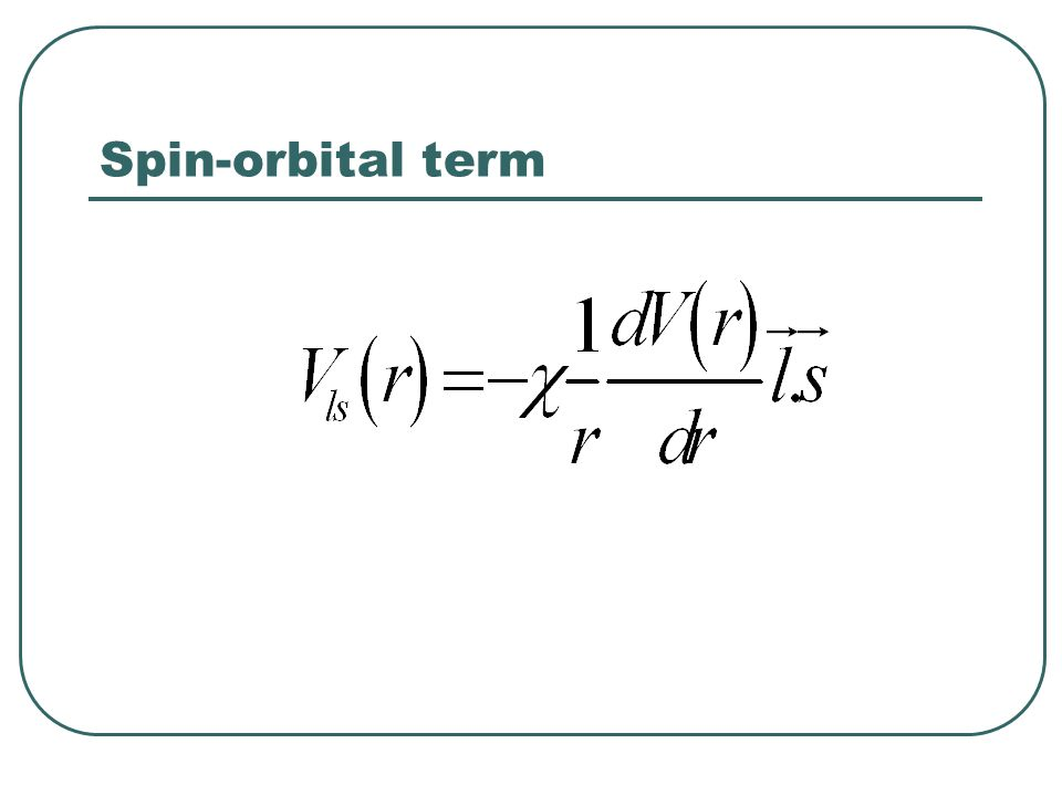 Spin-orbital term