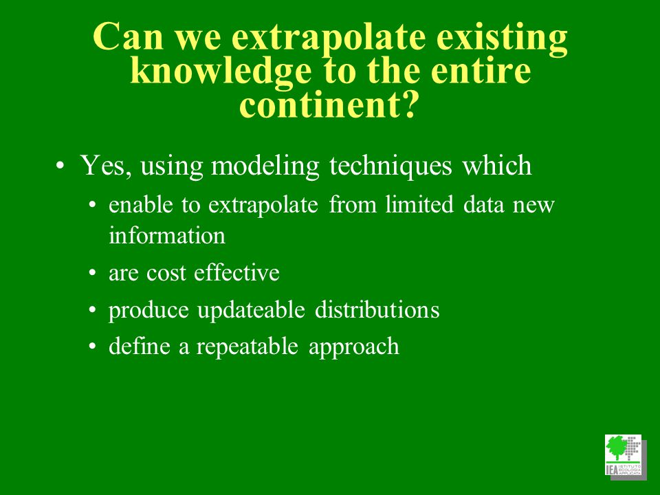 Spatial Modeling E1 En E2 Geographic space Environmental space Feedback En E2 E1 En E2 E1