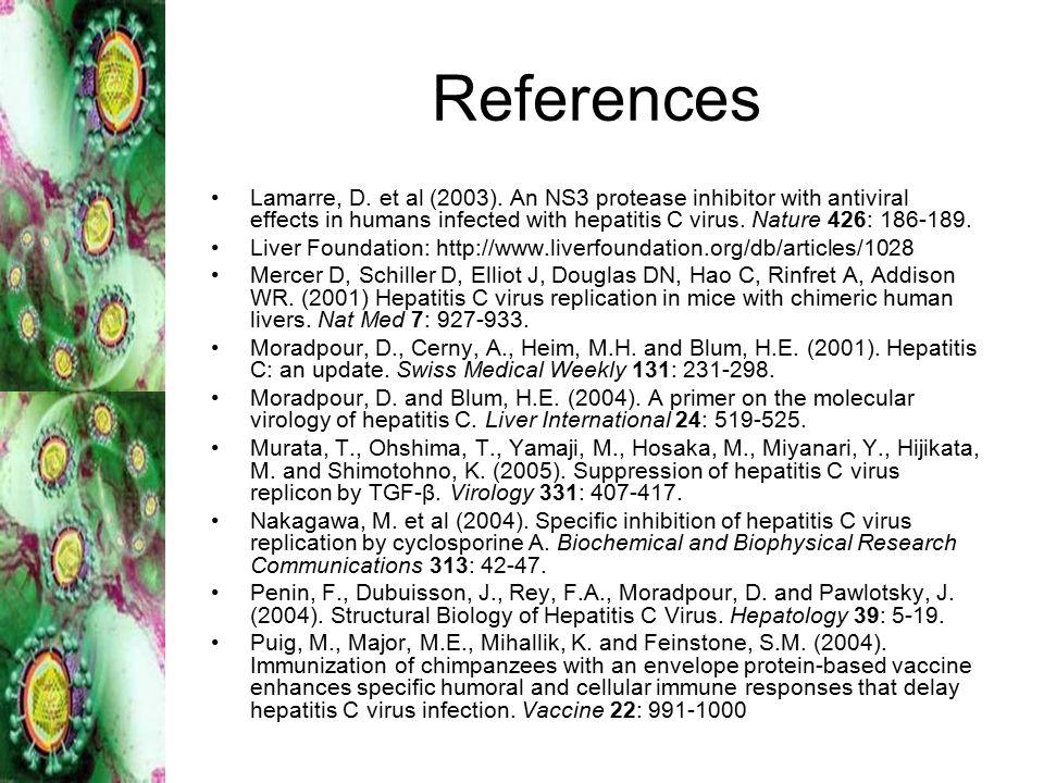 References Lamarre, D.et al (2003).