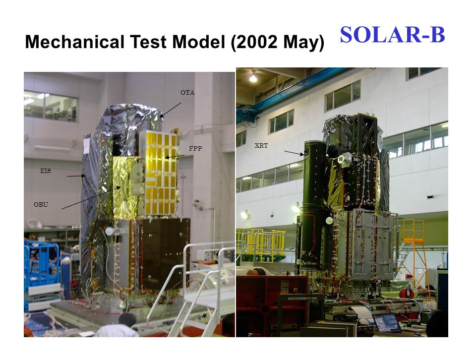 OTA FPP EIS OBU XRT SOLAR-B Mechanical Test Model (2002 May)