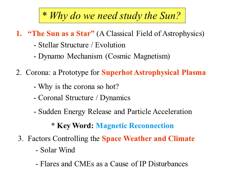 * Why do we need study the Sun.