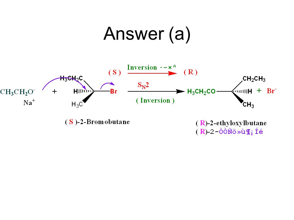 Problem 6.11 Starting with ( S)- 2-brombutane, outline syntheses of each of the following compounds: