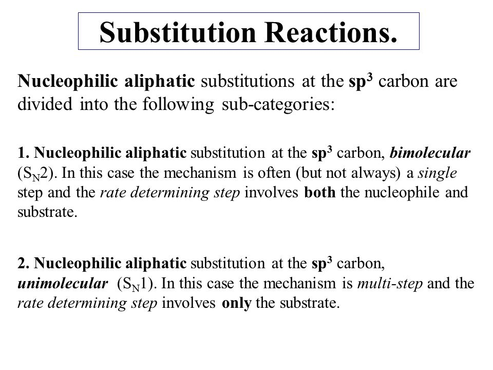 The S N 2 Reaction