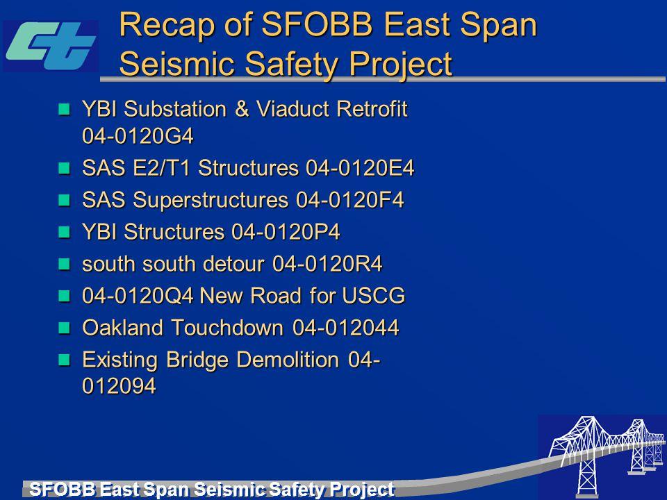 SFOBB East Span Seismic Safety Project Recap of SFOBB East Span Seismic Safety Project YBI Substation & Viaduct Retrofit 04-0120G4 YBI Substation & Vi
