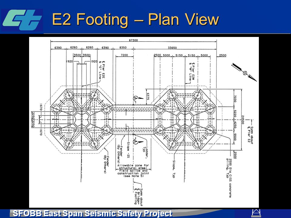 SFOBB East Span Seismic Safety Project E2 Footing – Plan View