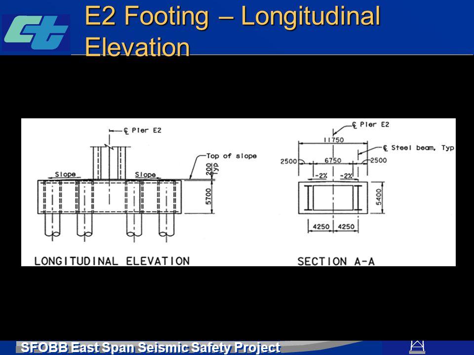 SFOBB East Span Seismic Safety Project E2 Footing – Longitudinal Elevation