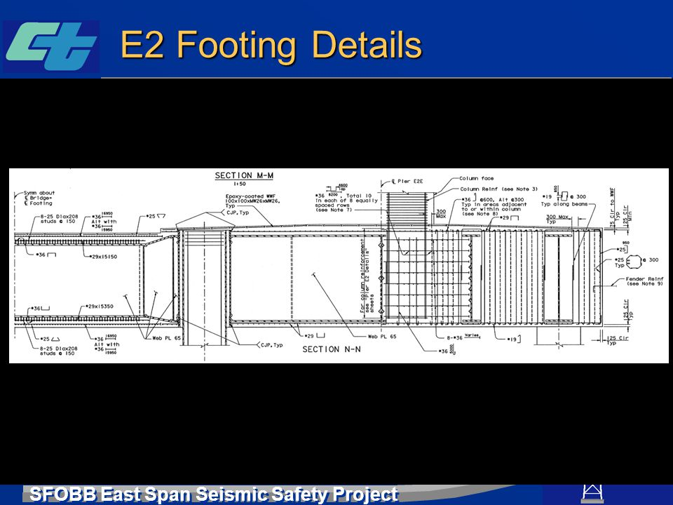 SFOBB East Span Seismic Safety Project E2 Footing Details