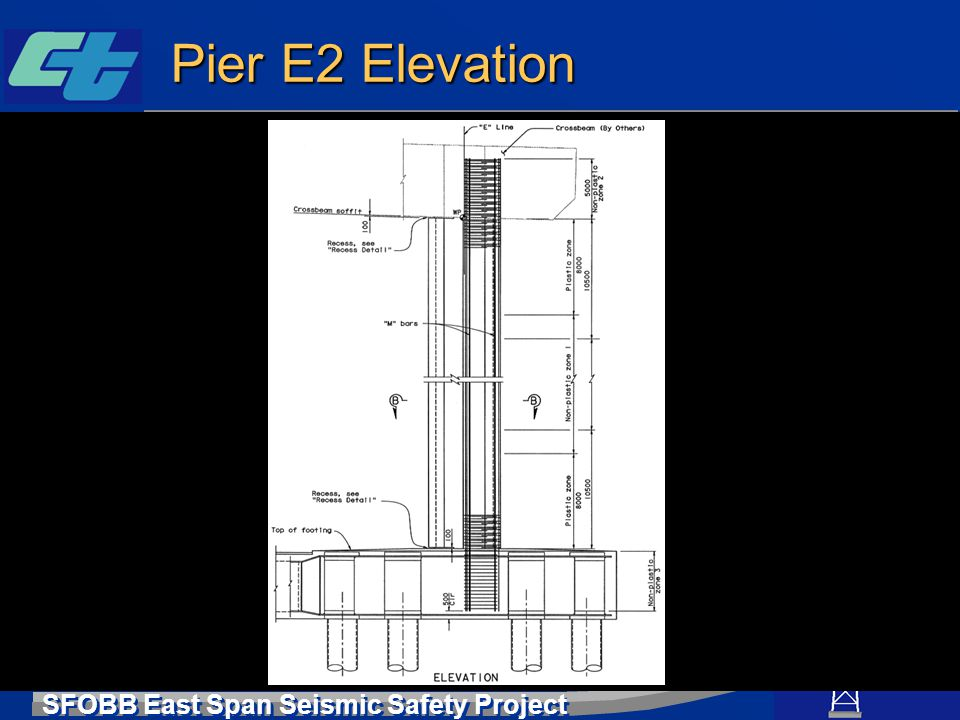 SFOBB East Span Seismic Safety Project Pier E2 Elevation
