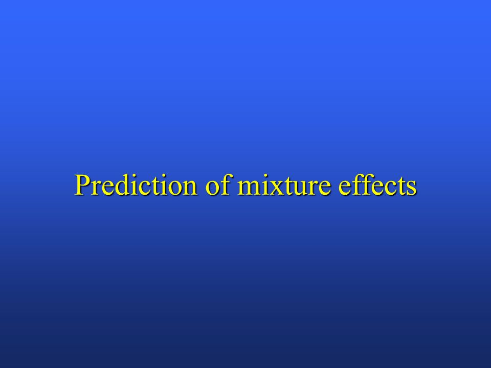 Prediction of mixture effects
