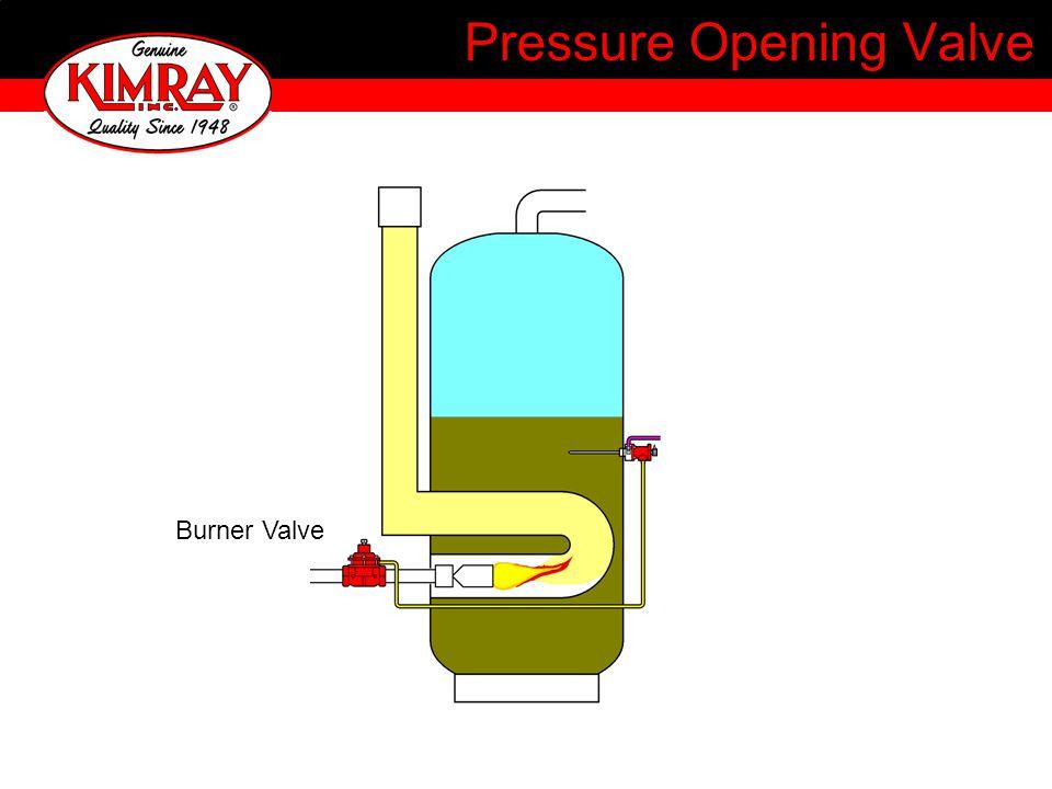 Pressure Opening Valve Burner Valve