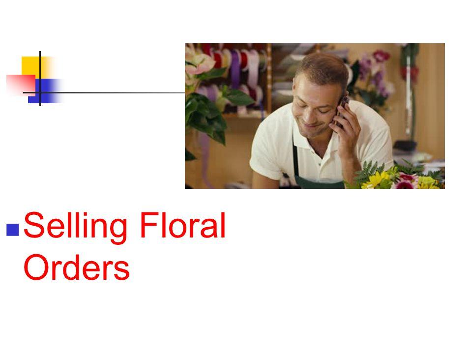 Selling Floral Orders