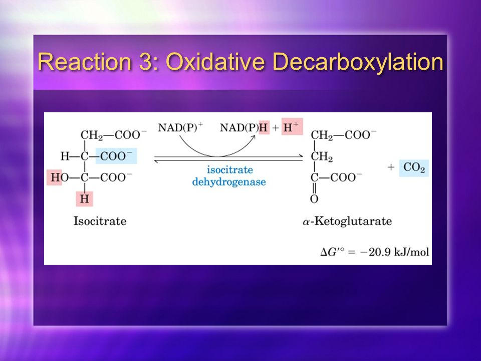 Reaction 3: Oxidative Decarboxylation