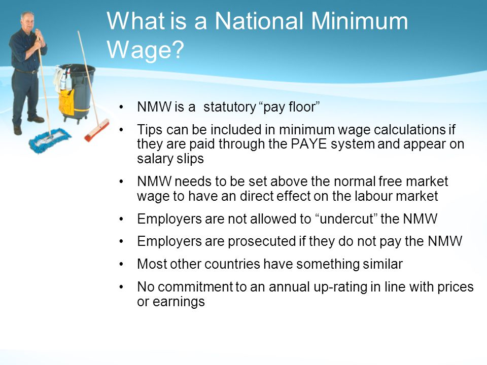 What is a National Minimum Wage.