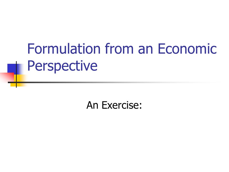 Economic Formulation Exercise Objective: The student will become familiar with some basic roles in plan formulation, including economic principles such as: Net economic benefits Benefit-to-cost ratio Incremental justification NED & NER benefits