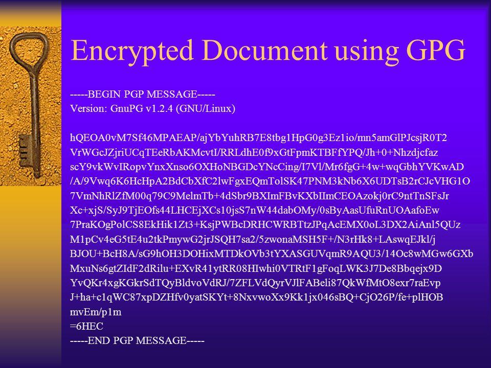 Encrypted Document using GPG -----BEGIN PGP MESSAGE----- Version: GnuPG v1.2.4 (GNU/Linux) hQEOA0vM7Sf46MPAEAP/ajYbYuhRB7E8tbg1HpG0g3Ez1io/mn5amGlPJcsjR0T2 VrWGcJZjriUCqTEeRbAKMcvtI/RRLdhE0f9xGtFpmKTBFfYPQ/Jh+0+Nhzdjcfaz scY9vkWvIRopvYnxXnso6OXHoNBGDcYNcCing/I7Vl/Mr6fgG+4w+wqGbhYVKwAD /A/9Vwq6K6HcHpA2BdCbXfC2lwFgxEQmTolSK47PNM3kNb6X6UDTsB2rCJcVHG1O 7VmNhRlZfM00q79C9MelmTb+4dSbr9BXImFBvKXbIImCEOAzokj0rC9ntTnSFsJr Xc+xjS/SyJ9TjEOfs44LHCEjXCs10jsS7nW44dabOMy/0sByAasUfuRnUOAafoEw 7PraKOgPolCS8EkHik1Zt3+KsjPWBcDRHCWRBTtzJPqAcEMX0oL3DX2AiAnl5QUz M1pCv4eG5tE4u2tkPmywG2jrJSQH7sa2/5zwonaMSH5F+/N3rHk8+LAswqEJkl/j BJOU+BcH8A/sG9hOH3DOHixMTDkOVb3tYXASGUVqmR9AQU3/14Oc8wMGw6GXb MxuNs6gtZIdF2dRilu+EXvR41ytRR08HIwhi0VTRtF1gFoqLWK3J7De8Bbqejx9D YvQKr4xgKGkrSdTQyBldvoVdRJ/7ZFLVdQyrVJlFABeli87QkWfMtO8exr7raEvp J+ha+c1qWC87xpDZHfv0yatSKYt+8NxvwoXx9Kk1jx046sBQ+CjO26P/fe+plHOB mvEm/p1m =6HEC -----END PGP MESSAGE-----