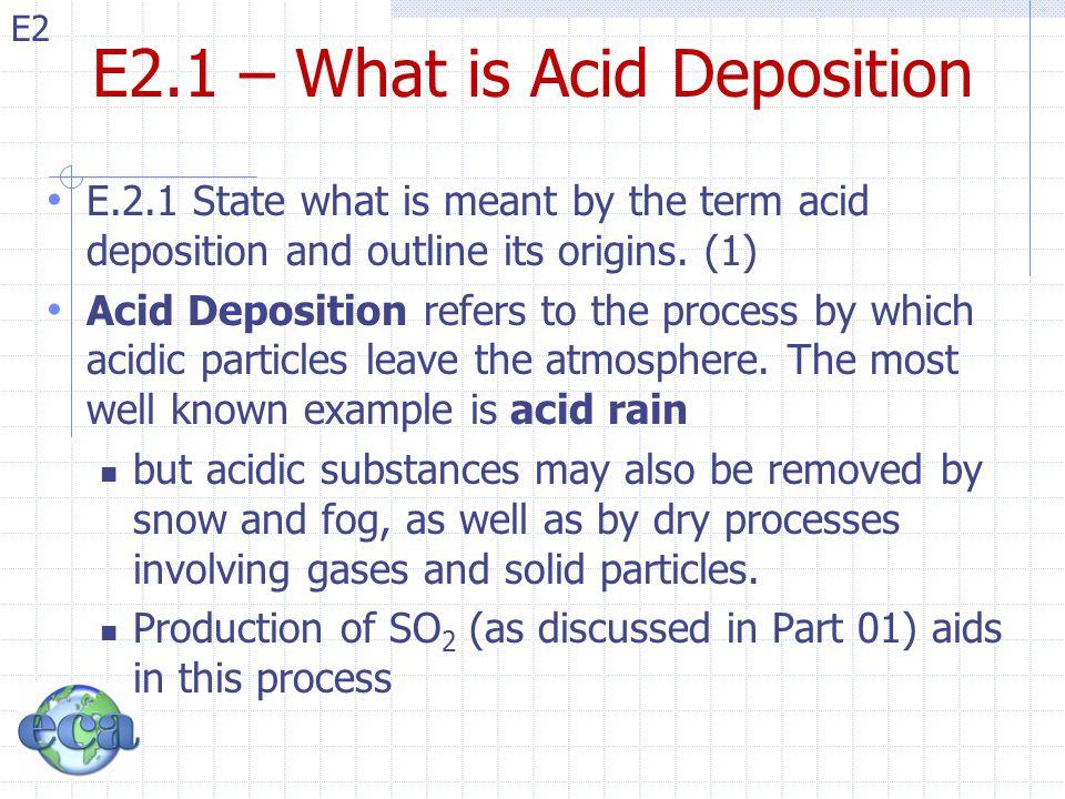 E2 E2.2 – Counteract Acid Dep.