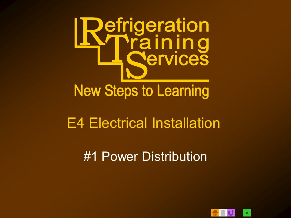  E4 Electrical Installation #1 Power Distribution