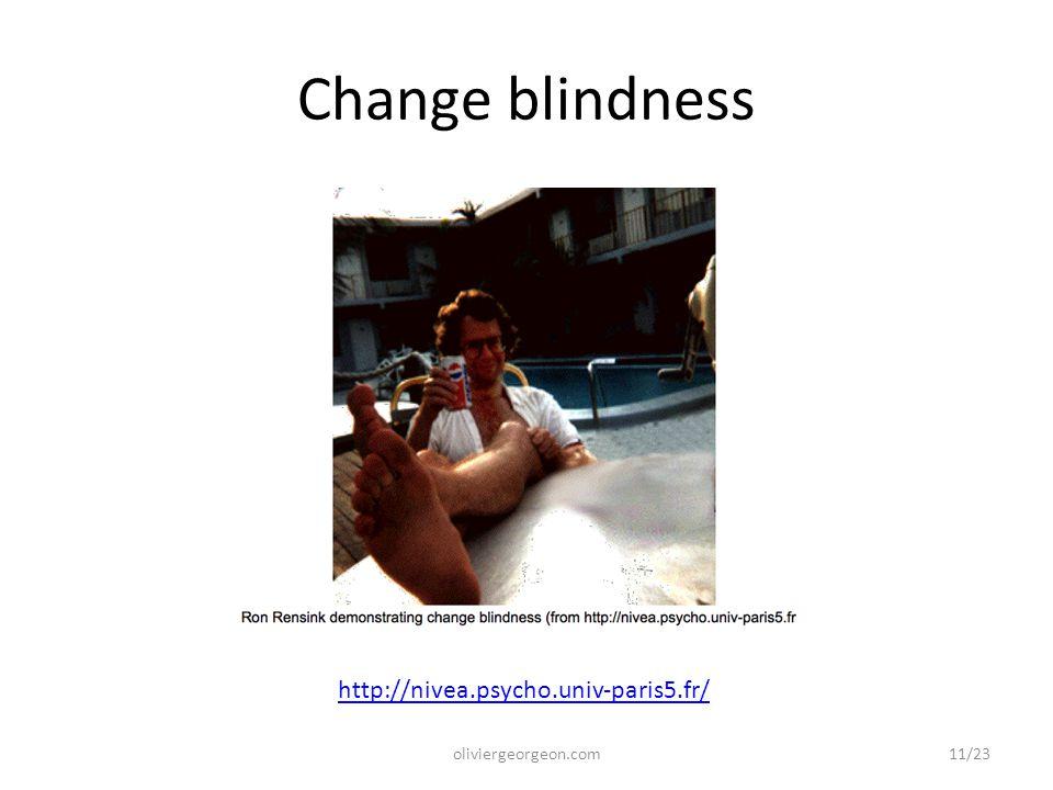 Change blindness oliviergeorgeon.com http://nivea.psycho.univ-paris5.fr/ 11/23
