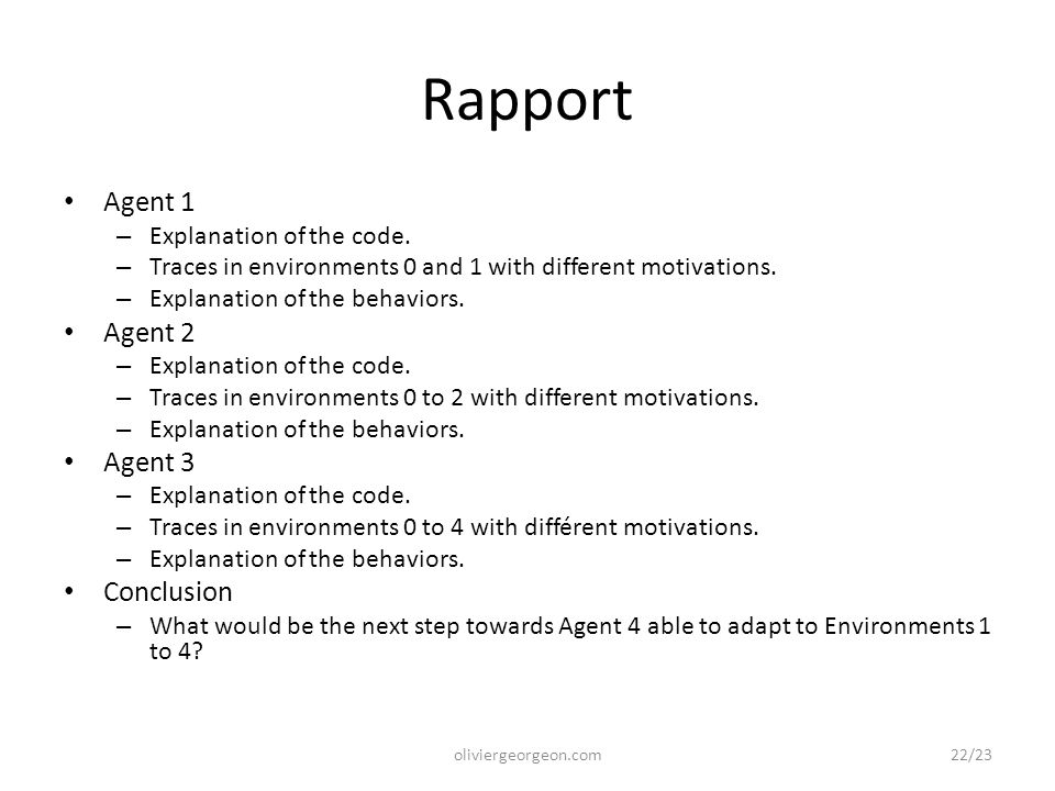 Rapport Agent 1 – Explanation of the code.