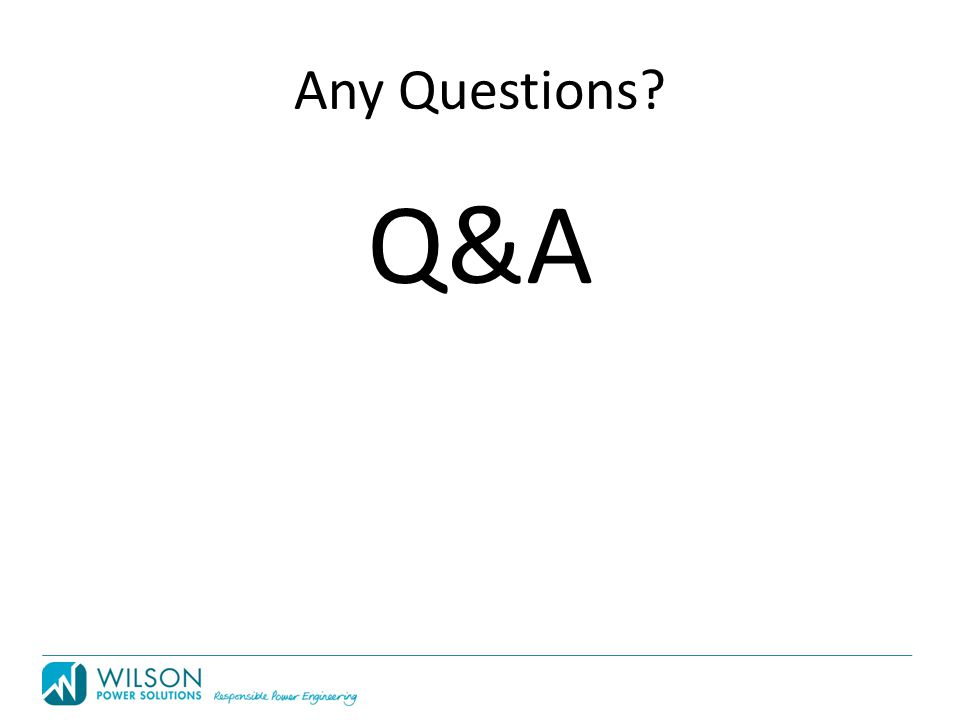Any Questions Q&A
