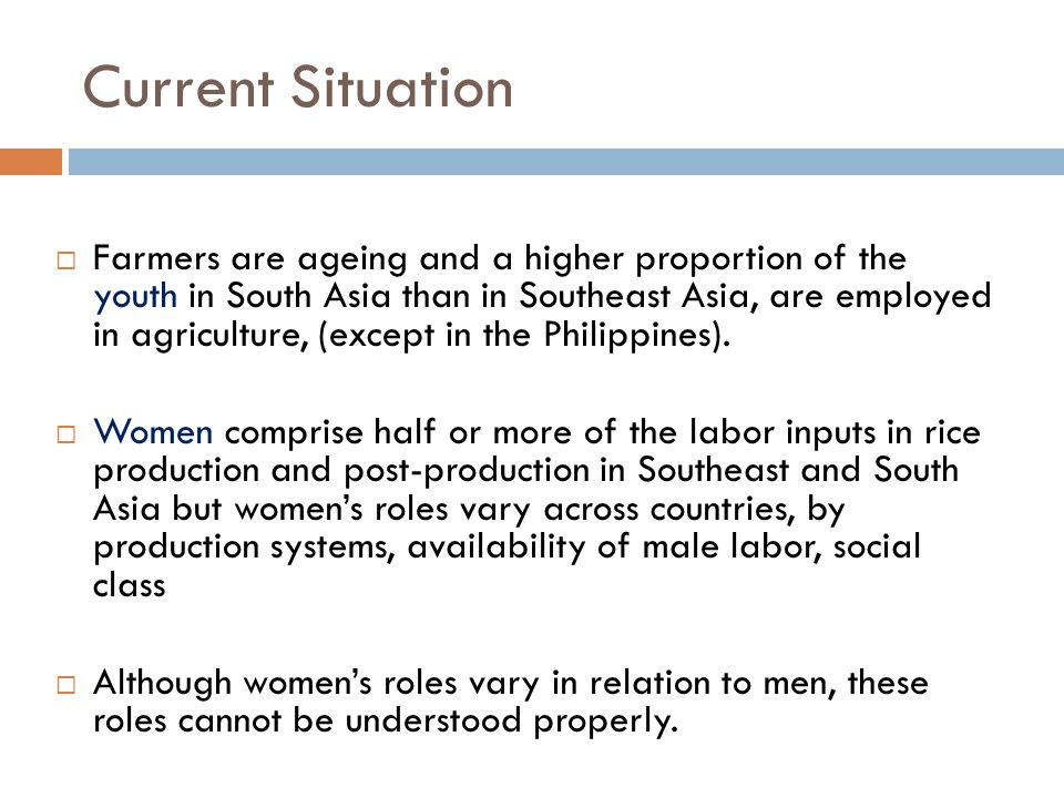 Toward 2030  Some of the major trends in male and female share of total population (economically active) and changes in gender roles are the outcome of a broader process of economic growth and are likely to be reinforced in the future as agriculture undergoes structural transformation