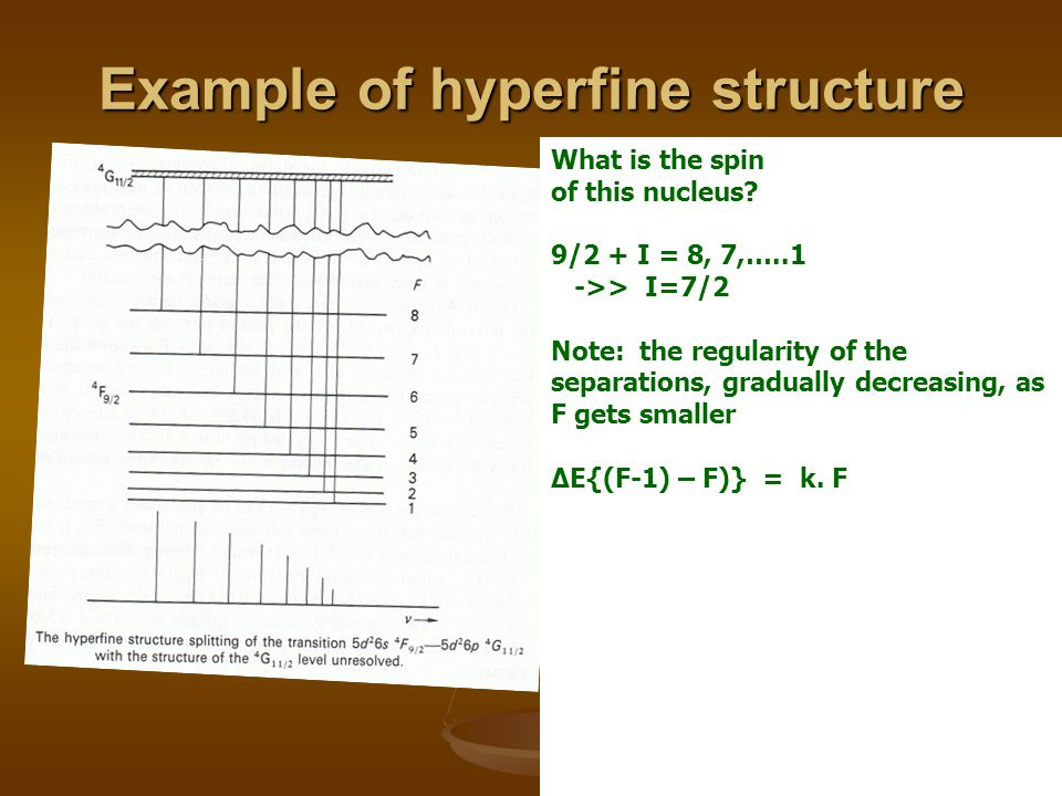 Example of hyperfine structure What is the spin of this nucleus.