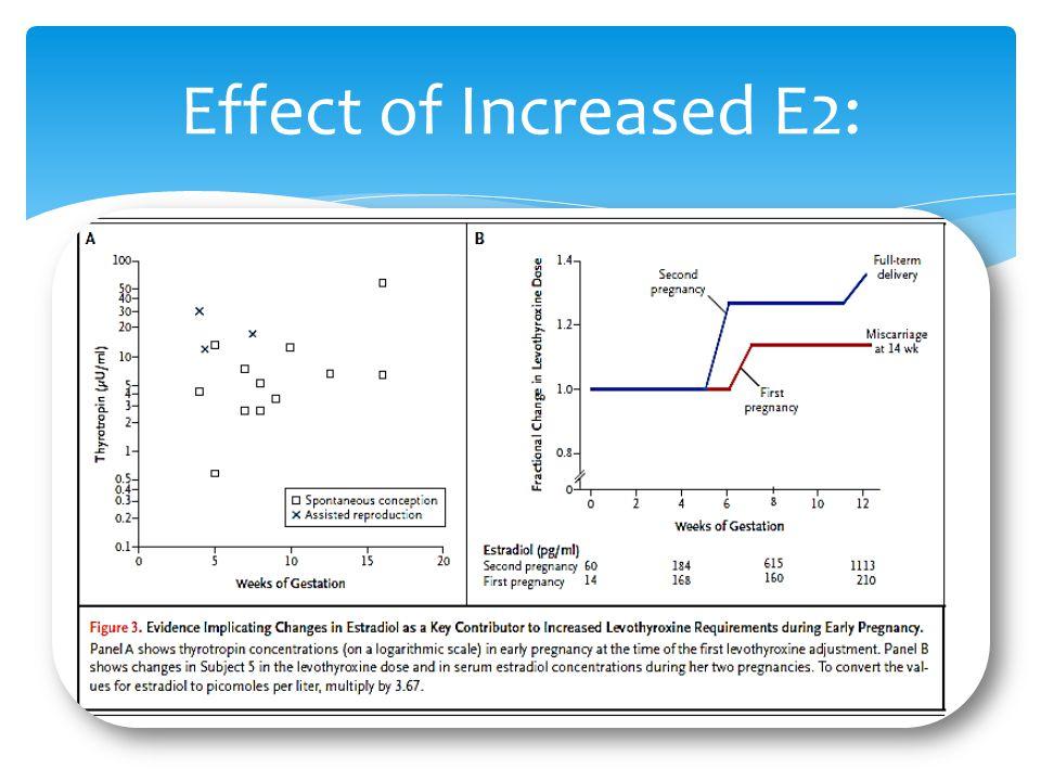 Effect of Increased E2: