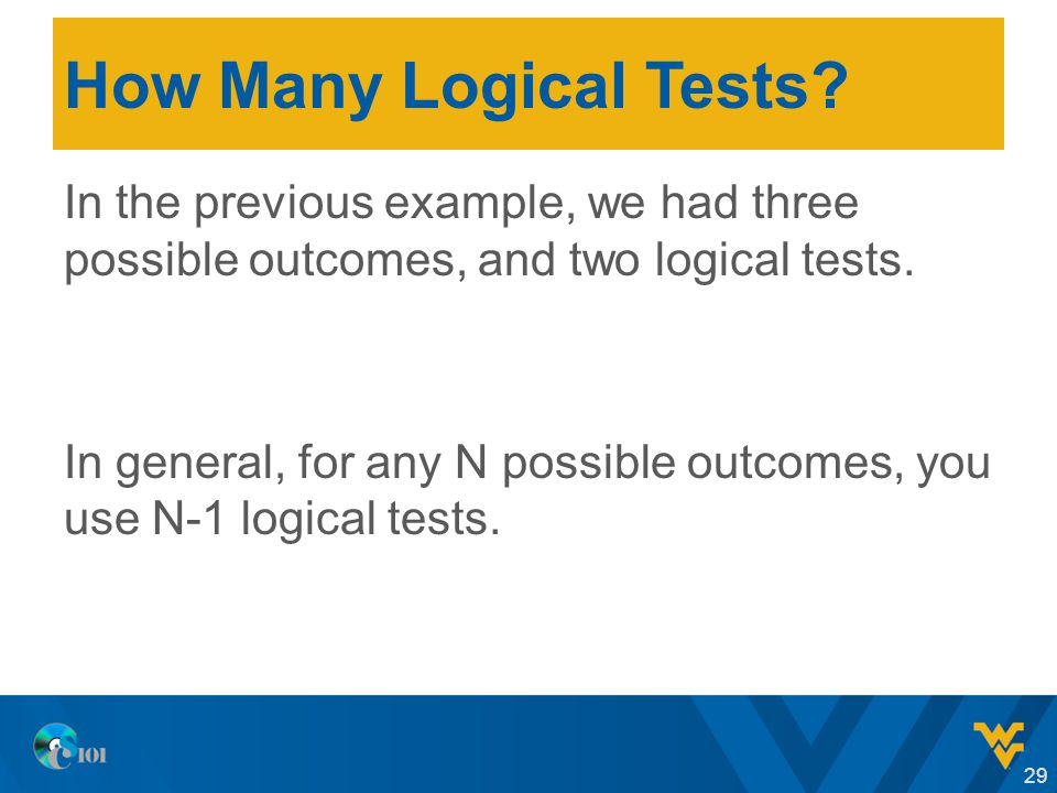How Many Logical Tests.