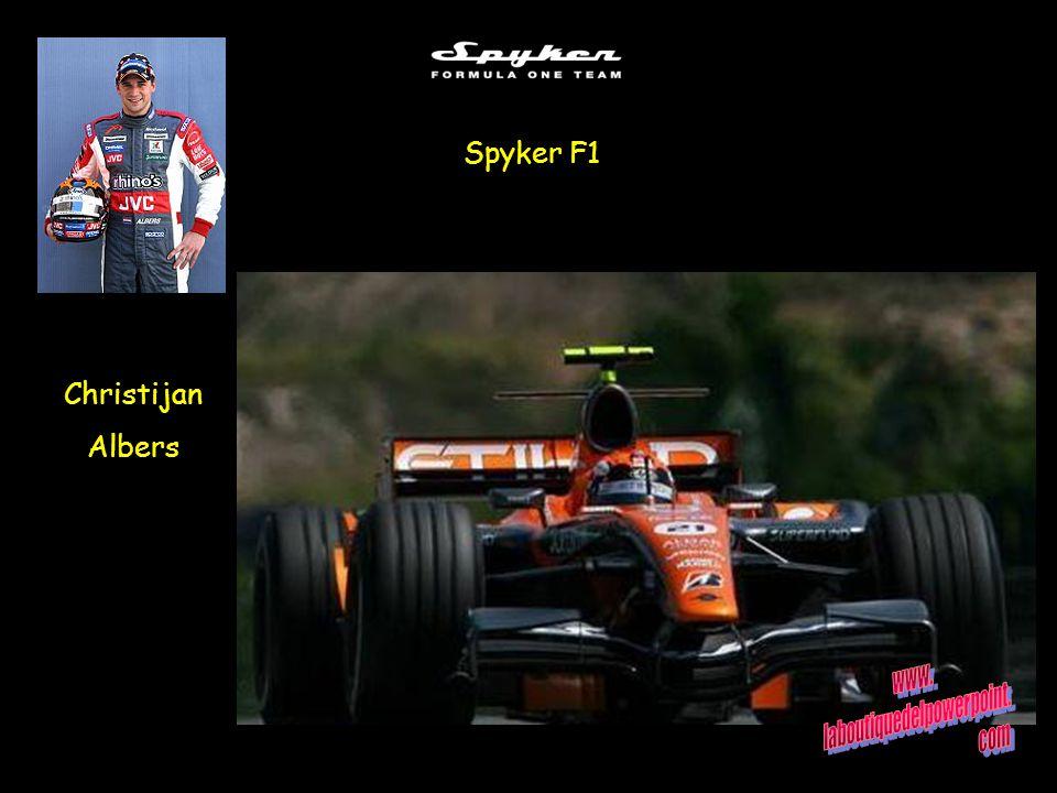 Spyker F1 Christijan Albers