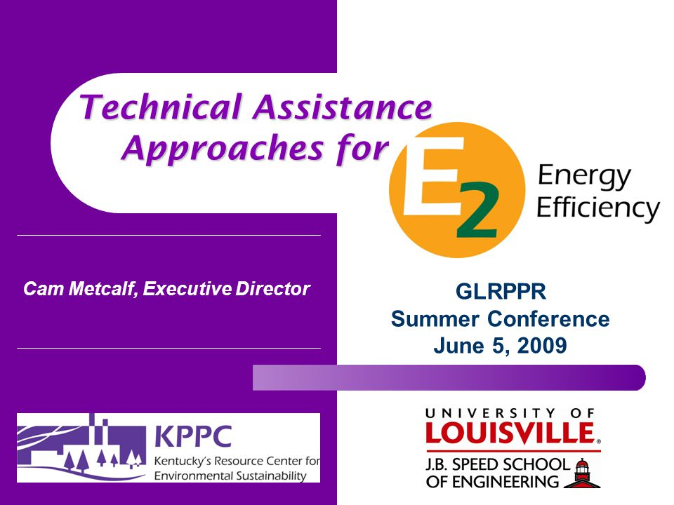 Cam Metcalf, Executive Director GLRPPR Summer Conference June 5, 2009 Technical Assistance Approaches for