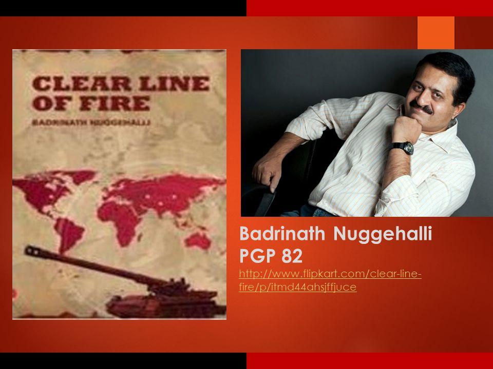 Badrinath Nuggehalli PGP 82 http://www.flipkart.com/clear-line- fire/p/itmd44ahsjffjuce