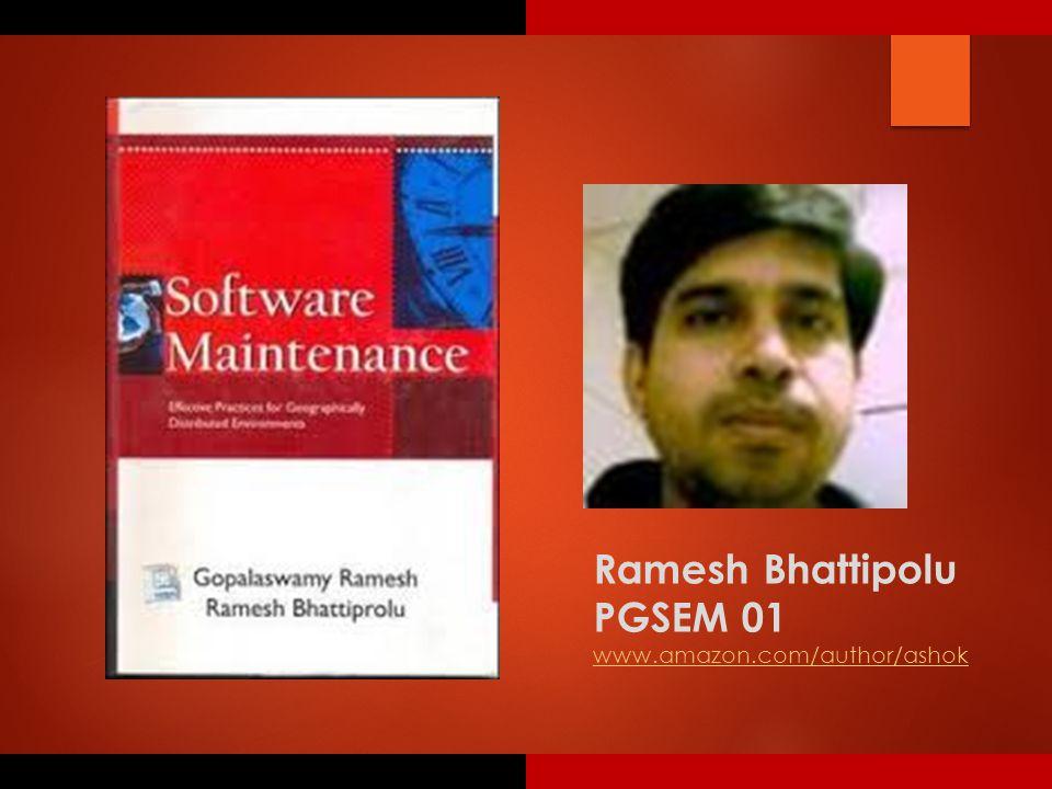 Ramesh Bhattipolu PGSEM 01 www.amazon.com/author/ashok