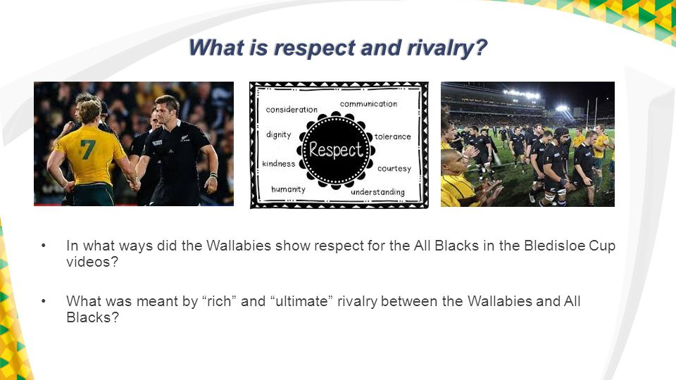 What is respect and rivalry.