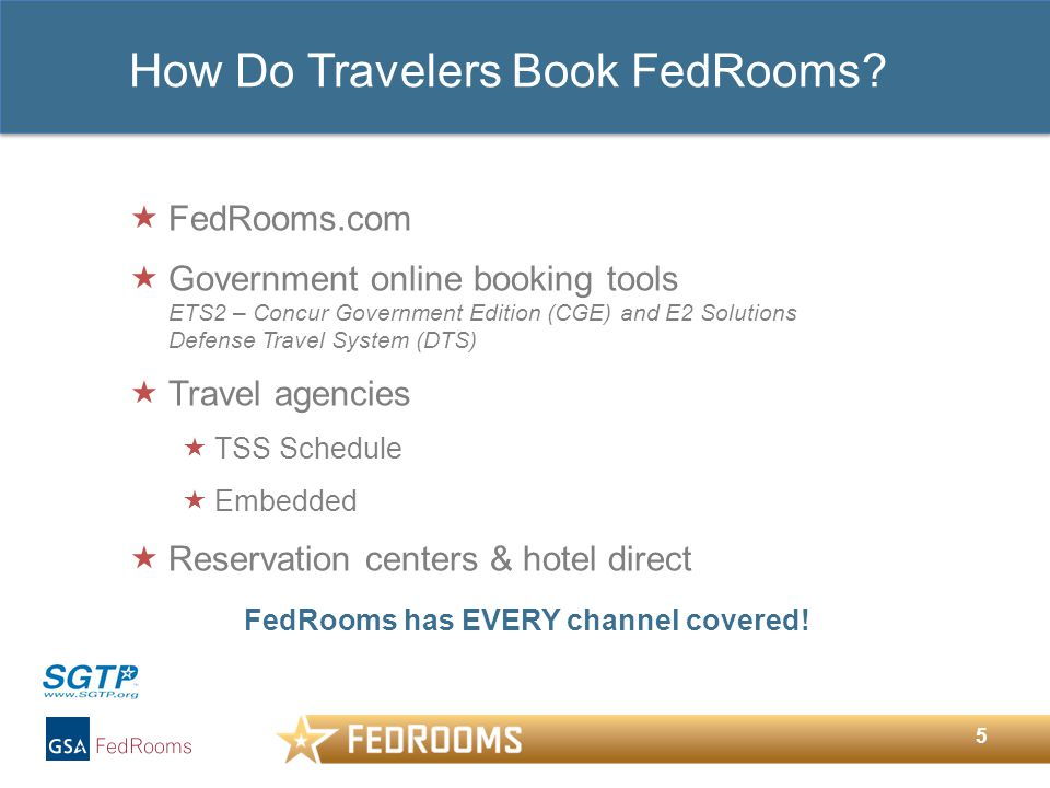 5 How Do Travelers Book FedRooms.