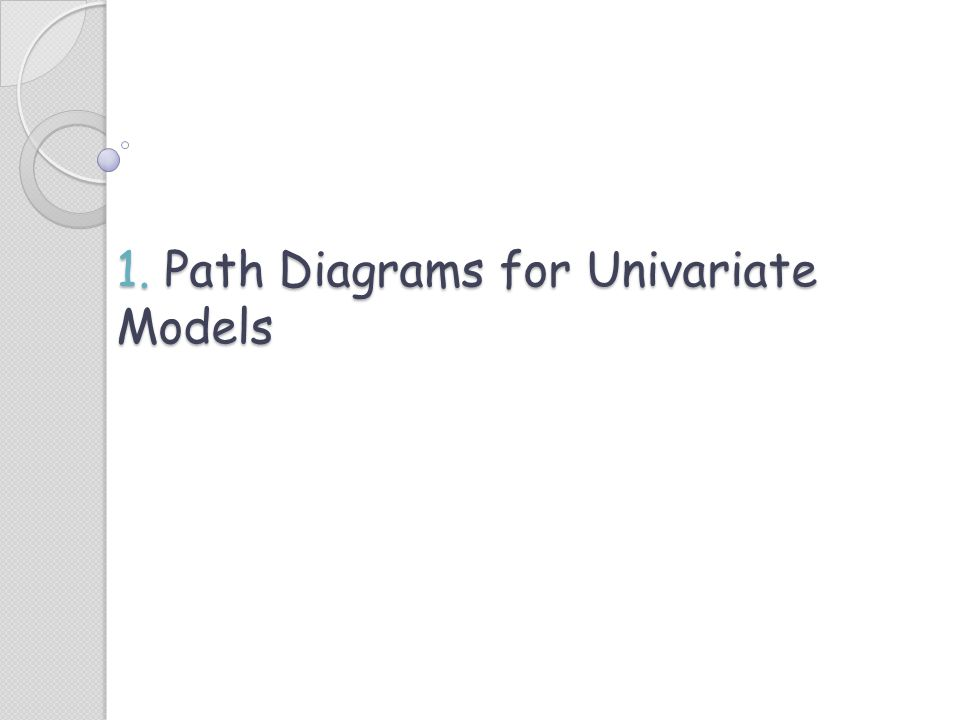 1. Path Diagrams for Univariate Models