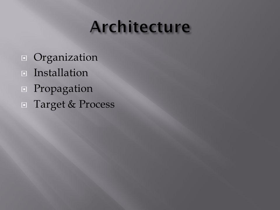  Organization  Installation  Propagation  Target & Process