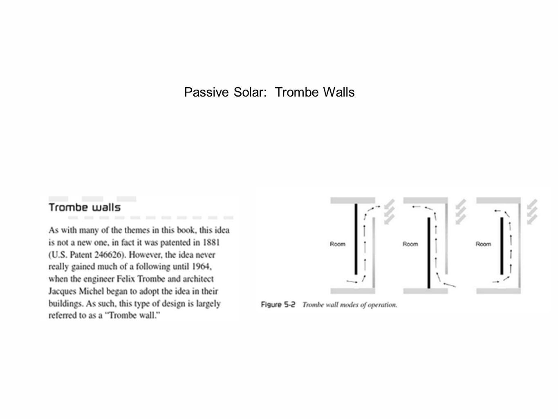 Passive Solar: Trombe Walls