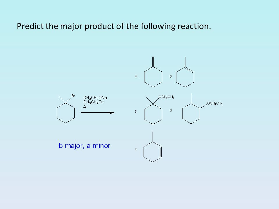 Predict the major product of the following reaction.