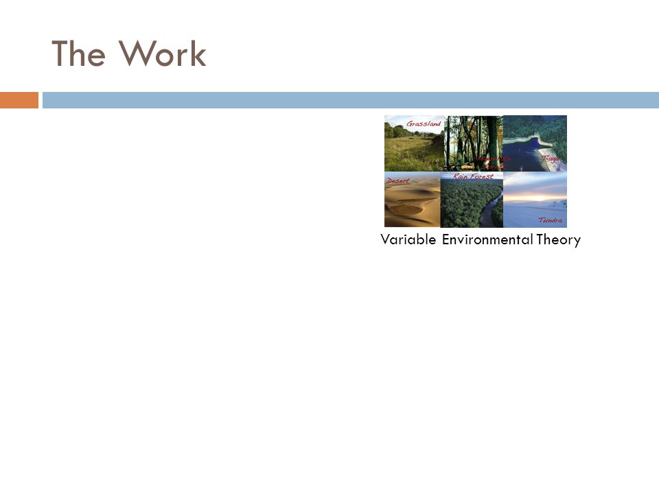 The Work Variable Environmental Theory