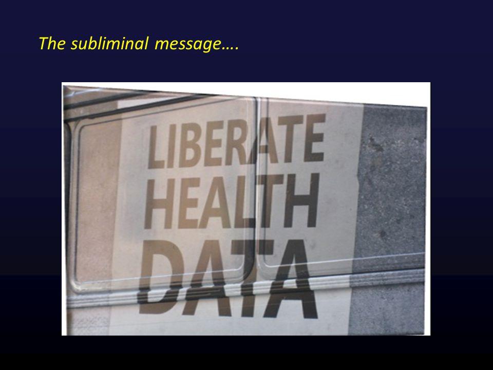 The subliminal message….