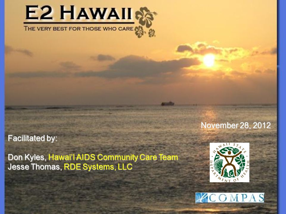 Has e2Hawaii helped users consistently use reports to understand demographic, needs, and health outcomes.