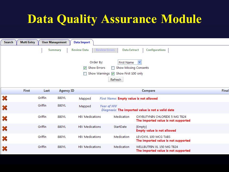 Data Quality Assurance Module