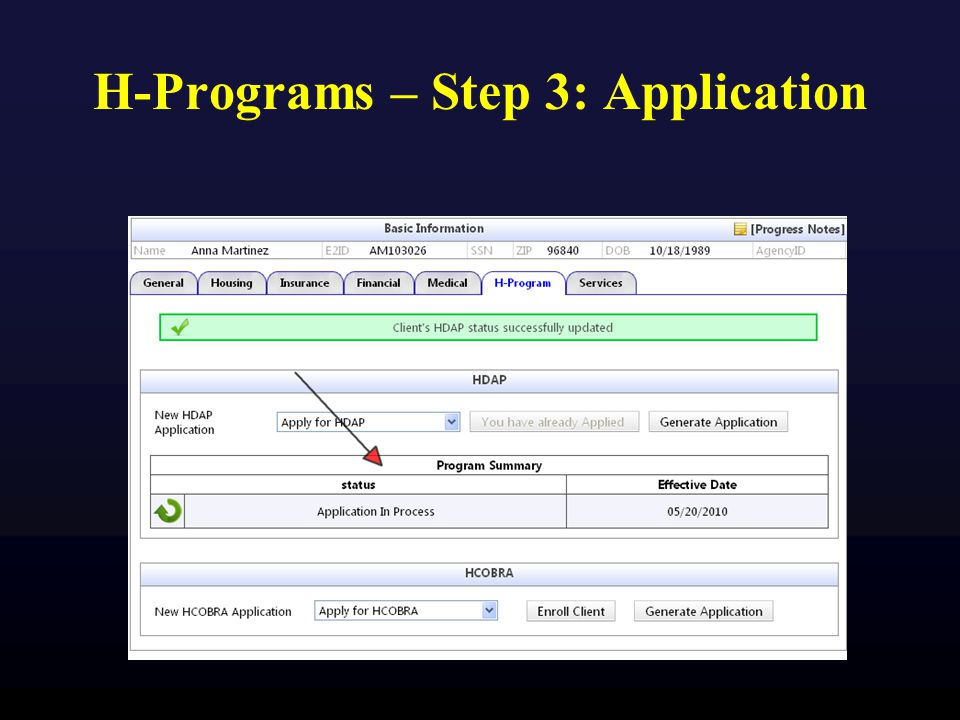 H-Programs – Step 3: Application