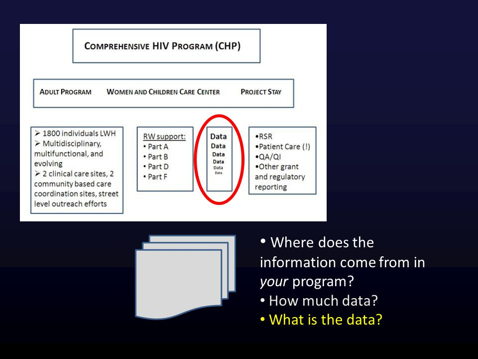 Where does the information come from in your program? How much data? What is the data?