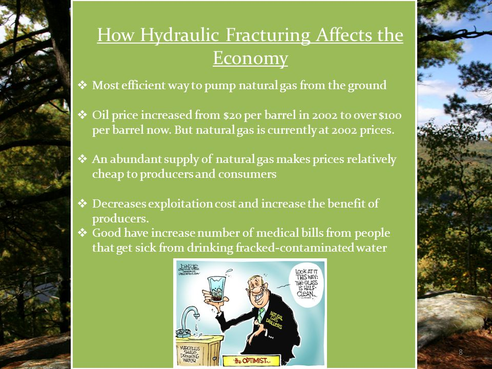 Case Studies of Hydraulic Fracturing  In 1987, an E.P.A.