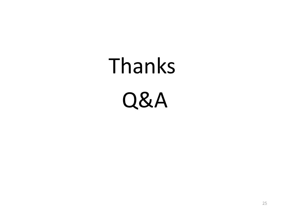 Thanks Q&A 25
