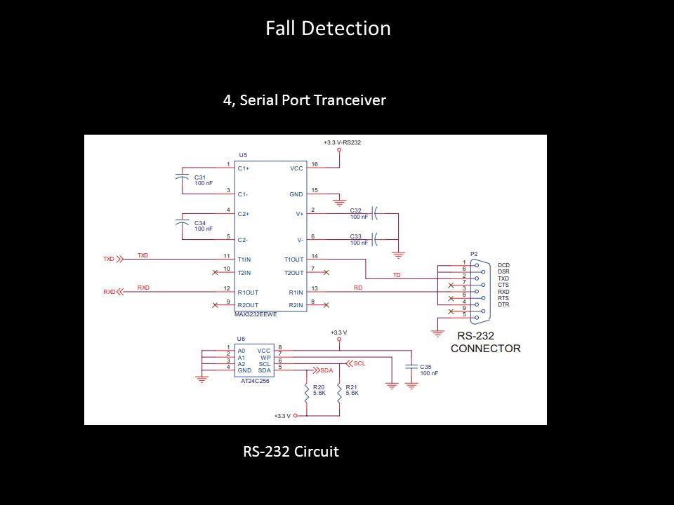 RS-232 Circuit 4, Serial Port Tranceiver Fall Detection